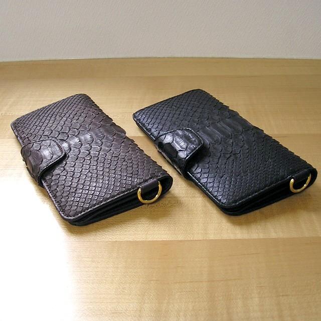 new style a8ddd f7992 すっきりデザインで使いやすい金運長財布【ダイヤモンドパイソン 帯付(おびつき)長財布】